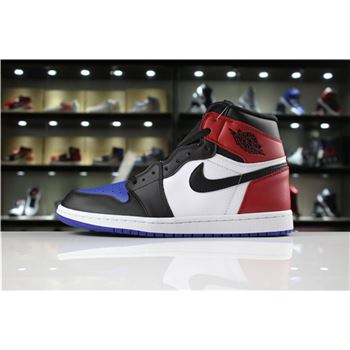Men's Air Jordan 1 Retro High OG Top 3 Black/Varsity Red-Varsity Royal For Sale