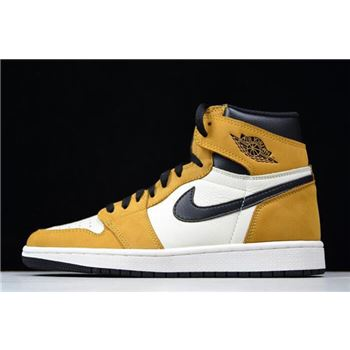 Air Jordan 1 High OG Rookie of the Year Gold Harvest/White-Black 555088-700