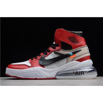 Off-White x Nike Air Force 270 x Air Jordan 1 High OG White/Black-Varsity Red For Sale