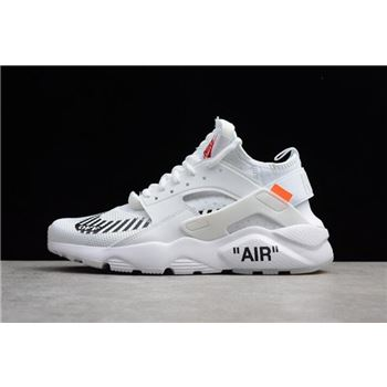 Men's and Women's Off-White x Nike Air Huarache Ultra White AA3841-100