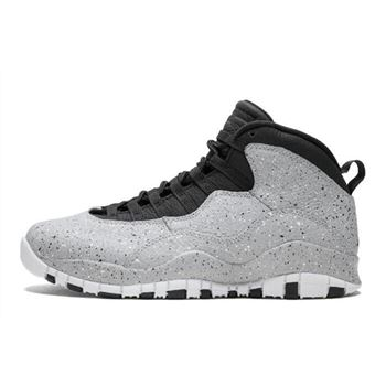 Air Jordan 10 Cement Smoke Grey/Black-University Red-White 310805-062