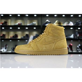 Air Jordan 1 Retro High OG Wheat Golden Harvest 555088-710