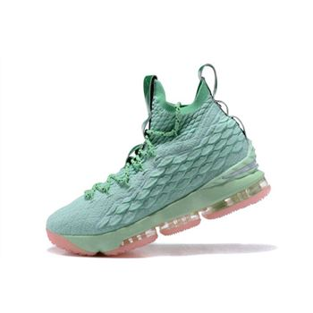 Nike LeBron 15 Mint Green Pink Men's Basketball Shoes