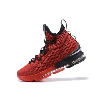Nike LeBron 15 PE In Red/Black Men's Basketball Shoes