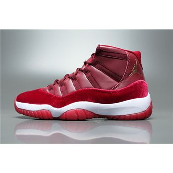 New Air Jordan 11 Velvet Night Maroon Basketball Shoes