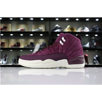 Air Jordan 12 Bordeaux Bordeaux/Metallic Silver-Sail 130690-617 Mens and Womens For Sale