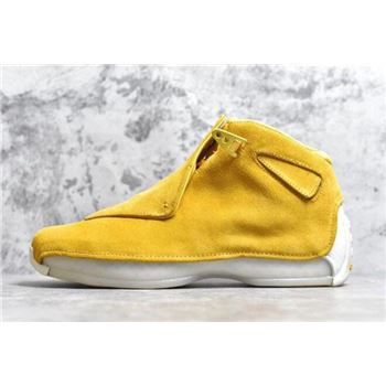 Air Jordan 18 Yellow Suede Yellow Ochre/Sail AA2494-701