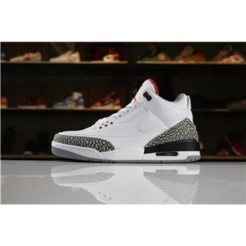 Air Jordan 3 JTH White/White-Fire Red-Black AV6683-160