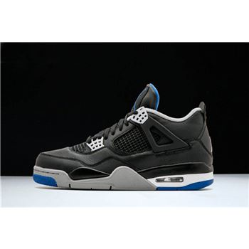 Air Jordan 4 Retro Motorsport Away Black/Game Royal-Matte Silver 308497-006