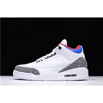 Latest Air Jordan 3 NRG Seoul White/Soar-Atom Red AV8370-100