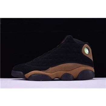 Cheap Air Jordan 13 Olive Black/True Red-Light Olive 414571-006 Free Shipping