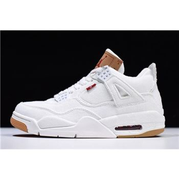 2018 Levi's x Air Jordan 4 White Denim AO2571-100 For Sale