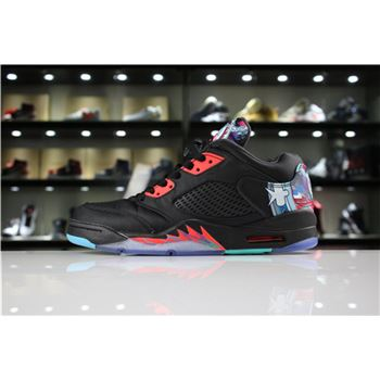 Air Jordan 5 Low Chinese New Year Black/Bright Crimson-Beta Blue-Black 840475-060