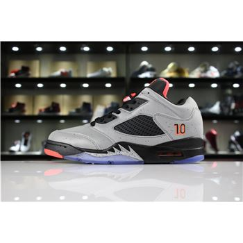 Neymar x Air Jordan 5 Low Reflective Silver/Infrared 23-Black 846315-025