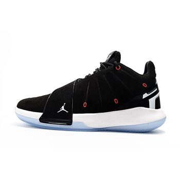 Men's Jordan CP3.XI Chris Paul Black/White-Red Basketball Shoes