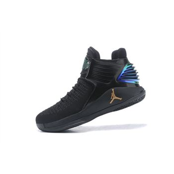 New Air Jordan 32 PK80 PE Black/Metallic Gold Men's Basketball Shoes