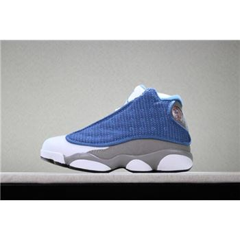Kid's Air Jordan 13 Flint French Blue/University Blue/Flint Grey-White