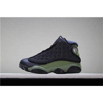 Kid's Air Jordan 13 Olive Basketball Shoes