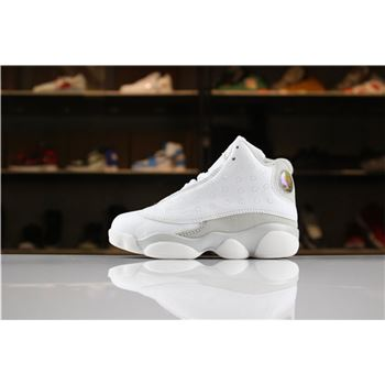 Kid's Air Jordan 13 Pure Platinum White/Metallic Silver-Pure Platinum For Sale