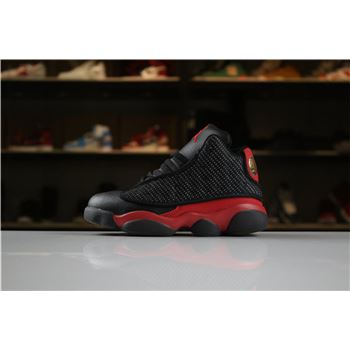 Kid's Air Jordan 13 Retro Bred Black/True Red-White For Sale